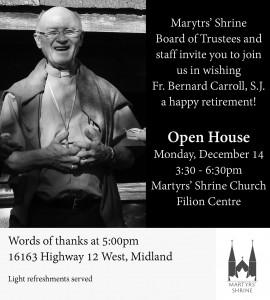 Ad for Fr Bernie farewell