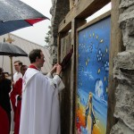 Fr Michael Knox, opening the Holy Door
