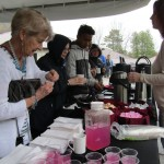 Lemonade, Coffee and cookies being served at the Garden Party