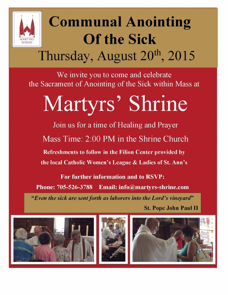 2015 Communal Annointing of the Sick INVITE