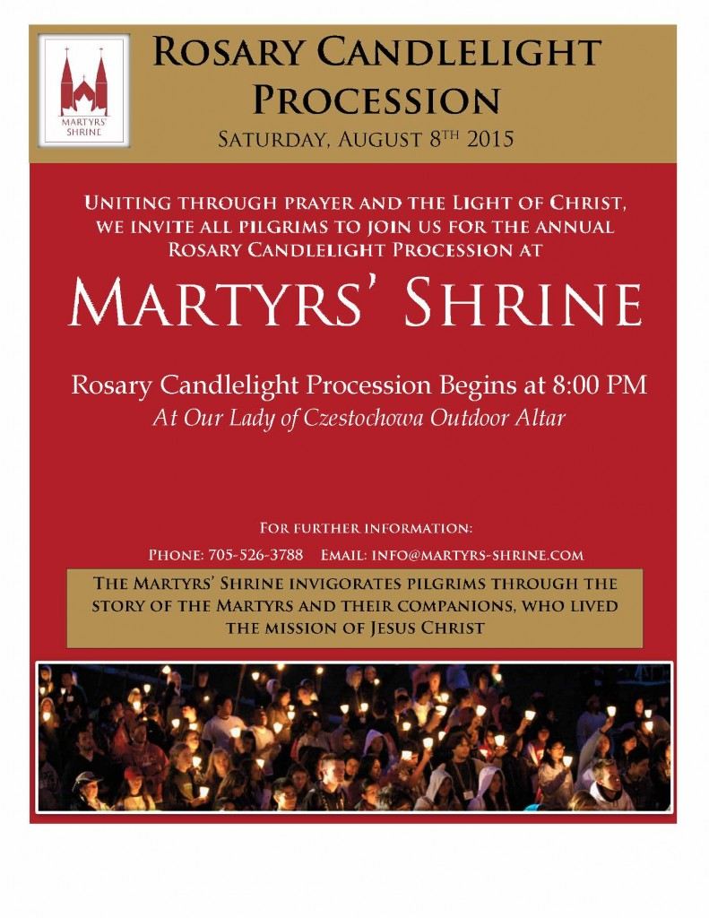 Ad for Candlelight procession