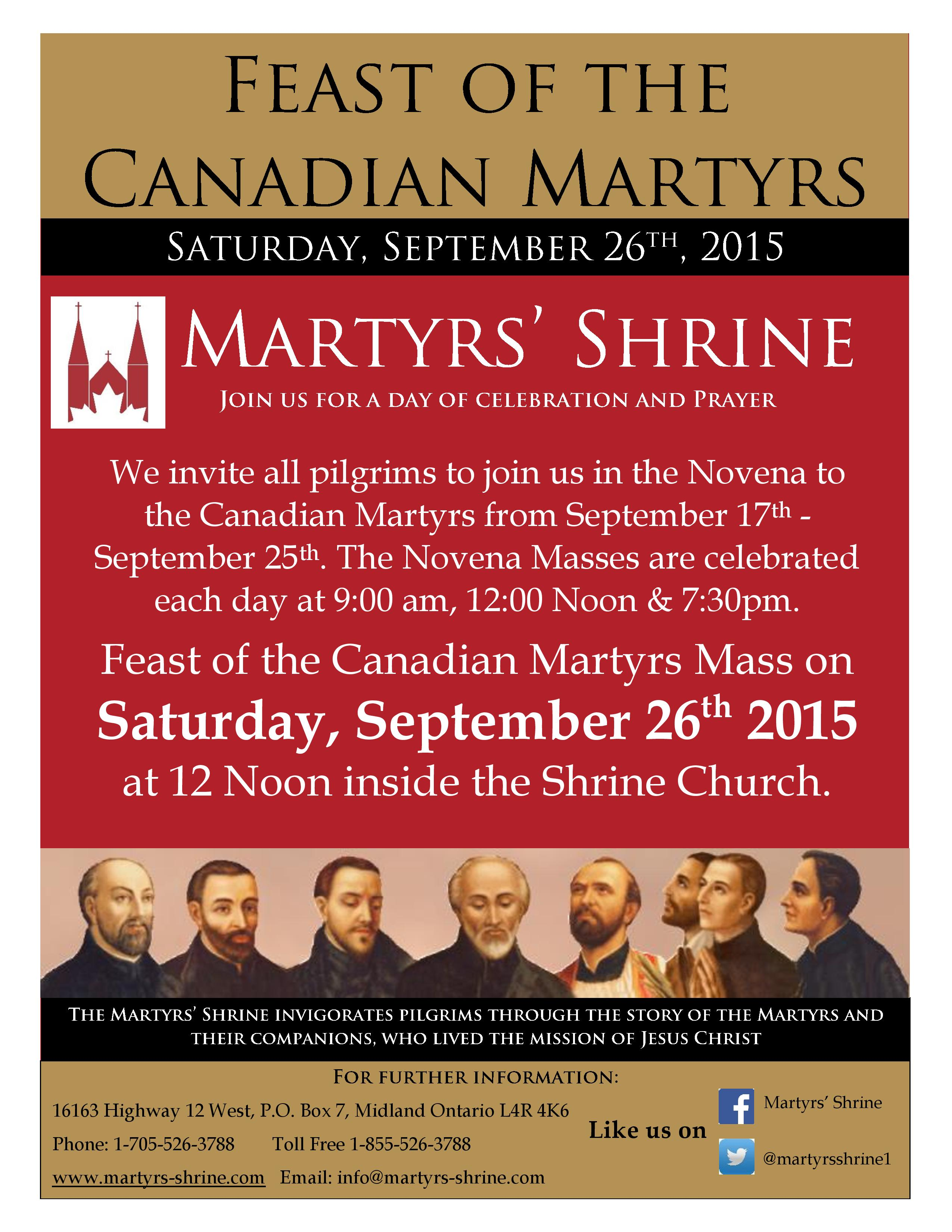 Ad for Feast Day of canadian martyrs 2015-page-001