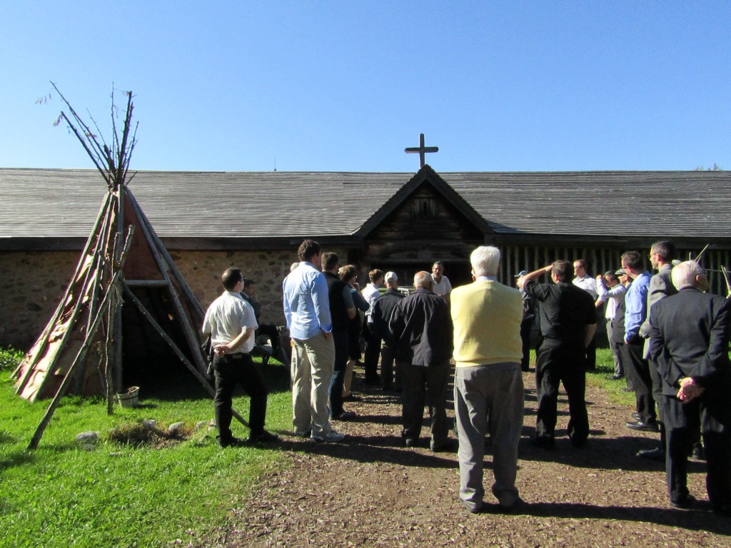 Feast day tour of Sainte Marie Among the Hurons for the Jesuits