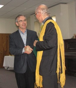 Local MP Bruce Stanton spoke very kind words about Fr. Bernie Carroll.